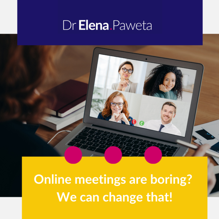 Online meetings are boring? We can change that!